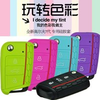 Wholesale New Vw Golf Cover Case - 2014 New Silicone Key Cover for VW Golf 7 mk7 Skoda Octavia A7 Silicone Key Portect Case 9 Colors Optional Free Shipping