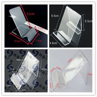 Wholesale Cigarette Gps Holder - Acrylic cell phone MP3 cigarette DV GPS display shelf Mounts & Holders mobile phone display Stands Holder at good price free shippiing