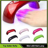secadores de uv gel venda por atacado-2016 Novo Mini LED Secador de Unhas Nail Dryers Lâmpada Nail Art Gel 9 W DIODO EMISSOR de Luz Máquina de Secador de Cura