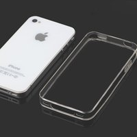 Wholesale Iphone 4s Tpu Black - For iphone 4s Ultra Thin 0.3MM Transparent Crystal Clear Soft TPU Silicon Case Cover For iphone 4 Case