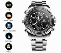 Mini grabadora de video impermeable opiniones-16GB Mini Videocámara HD impermeable reloj video ocultada cámara del reloj DVR 10pcs / lot de DHL