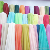 Wholesale Cheap White Chiffon Fabric - 5Yards 100D Chiffon Dress Fabric Dresses Fabric for Wedding Prom Evening Party Cocktail Bridesmaid Dresses Cheap Color Charts Dress Fabric