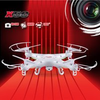 Wholesale Top 4ch Rc Helicopters - Top Quality SYMA X5C 2.4GHz 4CH HD FPV Camera 6 Axis RC Helicopter Quadcopter Gyro 2GB TF Card with 2MP Camera RM475