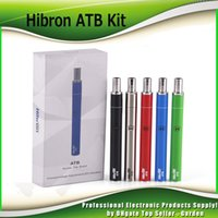 Wholesale One Thick - Original Hibron ATB Thick Oil Vaporizer all in one Kits 400mAh 2.2-3.8V VV Battery 1.5ohm Cartridge AIO Vape Pe kit 100% Authentic