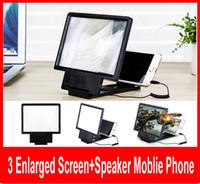 3d vergrößerte bildschirm großhandel-Winkel-justierbarer Eyeshield 3D vergrößerter Schirm-Handy-Videofrequenzverstärker mit Sprecher vergrößerter Schirm mit Kleinkasten