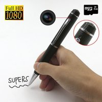 HD 1080 P oculto Spy Pen Video Camera Recorder 1920 * 1080 Pen portátil videocámara Cámara de vigilancia USB Flash Drive Mini DVR DV en caja al por menor