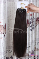 """Wholesale Hair Extension Micro Beads Brown - 18-22"""" #2 Darkest Brown Silicone Micro Ring Loops Remy Human Hair Extensions Micro Link Beads Indian Hair Silky Straight 50g 0.5g s"""