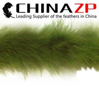 Wholesale Wholesale Feather Boas Cheap - Cheap Wholesale CHINAZP Crafts Factory 2yards lot Top Quality and Graceful Dyed Moss Green Turkey Marabou Feather Boas