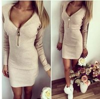 Wholesale Russian Style Casual Fashion - 2016 new fashion Beautiful Russian style solid thick warm winter women dress office dress big discount woman's clothing