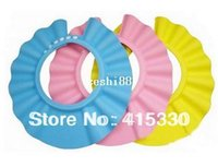 Wholesale baby shower shampoo shield hat for sale - Group buy 10pcs adjustable Baby Safety Shampoo Shield Hat kid s bath shower cap Bath Shower Wash Hair Shield Hat Cap