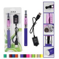 Wholesale Ego Colorful Starter Kits - CE4 Electronic Cigarette Blister kits ego starter kit e cig ce4 atomizer 650mah 900mah 100mah colorful battery in Blister via DHL