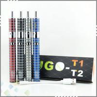 Wholesale Vaporizer T2 Battery - UGO-T2 Electronic Cigarette Kit 1300mah Variable Wattage Battery with Airflow Control Tank 4 Colors Vaporizer UGO T2 DHL Free