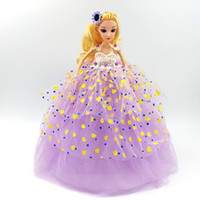 Wholesale Large Plastic Dolls Wholesale - Children's gift doll new large wedding doll pendant printing Barbie doll keychain girl toys free shipping wholesale