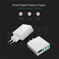 Wholesale Europe Ac Power Plug Usb - For Most Smartphones Fast Charger For USB Wall USA Europe Plug 3A AC Power Adapter Wall Charger Plug 3 Port