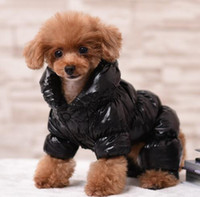 Wholesale Dog Down Coat - Fashion Winter Clothes For Large and Small Dogs Windproof Cotton Padded Warm Pet Coat Cat Puppy Four Legs Jumpsuit Down Jacket