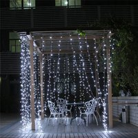 Commercio all'ingrosso 3MX3M 300LED ha condotto la luce di Natale luci fata illuminazione Xmas party garden Wedding Curtain Lamp Lampadine 110 V - 220 V