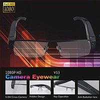 Wholesale Glass Hd Cam - 1080P FULL HD Glasses Camera V13 Spy Hidden Security DVR Video Recorder Eyewear Cam Mini DV