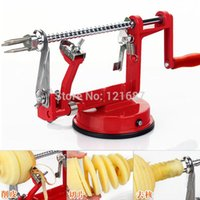 Wholesale Peel Apples - 2015 new sale 1pcs 3in1 fruit tools Apple Slinky Machine Peeler Fruit Cutter Slicer Kitchenware Apple peeling machine