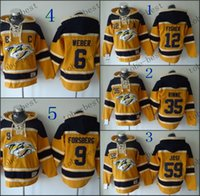 Wholesale Hooded Sweatshirt Jacket Man - Nashville Predators #6 Shea Weber Red Hooded Sweatshirt Hockey Jackets New Style All Teams Outdoor Uniform size 48-56 free shipping