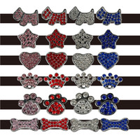 Wholesale Dog Bell Wholesale - 100pcs (Mixed order) 10mm Rhinestone Dog Pet Cat Charms DIY slider(Leave message for details charms)