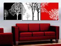 Wholesale Huge Wall Art Tree - Free Shipping ,Lots Wholesale ,san540#,100% Handicrafts Modern Abstract 3 panel Combination huge wall Decor art oil painting :Tree