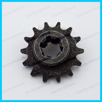 Wholesale T8F T stroke front pinion sprocket tooth teeth of clutch gear box for cc cc mini crosser moto atv quad dirt bikes order lt no tra