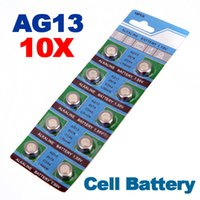 Wholesale 357 Batteries - Whole 2015 New Hot Sale 10pc 1.5V AG13 LR44 A76 L1154 RW82 303 357 SR44 Alkaline Cell Button Battery order<$18no track