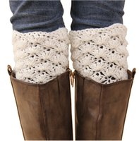 Wholesale Pink Hand Cuffs - Newest hand crochet women short leg warmers fashion girls hollow out Autumn and Winter warm boots cuffs long socks free shipping