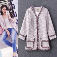 Wholesale Classy Clothing - luxury C brand designer women's jackets woolen classy jackets coats runway clothing
