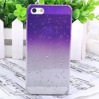 Atacado-Clear Hard Case Waterdrop Raindrop Compatível com a Apple iPhone 5 5s ZMPJ116I Transparente