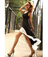 Wholesale Swallow Tail Hem - Wholesale-Promotion! 2015 Sexy Women Lady Deep U Neck Bare Back Backless Dress Hem Tank Swallow Tail Sleeveless Summer Long Dress
