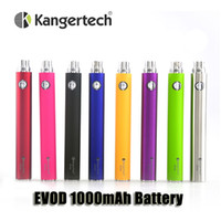Wholesale Vivi Batteries - Authentic Kanger EVOD 1000mAh battery for CE4 CE5 CE6 MT3 Vivi Nova Protank 510 ego thread atomizers