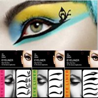 Wholesale Eye Shadow Eyeliner Sticker - 4 or 5 pairs set New Fashion Sexy Make Up Eyeliner Tattoo Black Eyeliner Shadow Sticker Smoky Eyes Temporary Tattoos Free Shipping