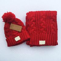 erkek kış şapkaları modası toptan satış-Sıcak moda marka yojojo erkekler ve kadınlar kış yüksek kalite sıcak eşarp şapka takım tam örgü şapka sıcak