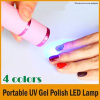 Wholesale Tips 48 - Portable UV Gel Polish LED Lamp Cure Torch, Nail Art Tips Curing Tool High quality Hot Selling