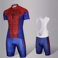 Wholesale Spiderman Cycle Jersey - Crossrider Spiderman pro cycling jersey bike short SET MTB Ropa Ciclismo PRO cycling WEAR mens BICYCLING Maillot Culott