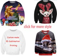 Wholesale Merry Christmas Green - New Fashion Couples Men Women Unisex Merry Christmas 3D Print Hoodies Sweaters Sweatshirt Jacket Pullover Top S-6XL W5