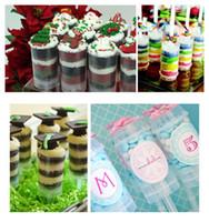 yılbaşı hediyeleri pişirme toptan satış-50 adet yuvarlak şekil Çikolatalı kek itme tedavi Pops Up Fincan Cupcake Gömlekleri Çörek plastik Pişirme Bardaklar Çocuklar için Noel hediyeleri