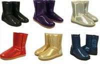 Wholesale Boot Decorations - 2016 Australia Classic Short Sparkles Snow Boots lady 3161 Handmade Glitter Sequins decoration Plush Winter women's boots