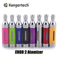 Wholesale Kanger Tank Ego - 100% Original Kanger EVOD 2 atomizer 1.8ml Upgated Rebuildable Atomizer BDC Tank for ego thread battery