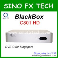 Atacado Singapore Cable receptor Blackbox C801 HD Cingapura TV cabo receptor DVB-C set top box Blackbox c801