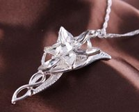 amour seigneur achat en gros de-2016 Film The Arwen Pendentif Evenstar Pendentif Pierres Crystal Collier Lord of ring Collier Torque Love Silver Cadeau Crystal Love