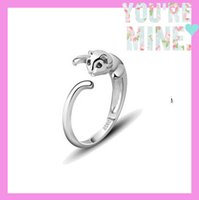 Wholesale Wholesale Cat Female Ring - 10pcs Lot Openings Cute Cats Rings 925 Sterling Silver Rings For Women Fashion Jewelry Adjust Female Love Nice Gift Girl Silver Jewelry 100%