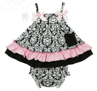 Wholesale Tutu Tank Tops - Summer Baby Set Girls Flower Ruffles Tank Tops + PP Shorts 2pcs Outfits Kids Toddler Baby Sets Cotton Sport Infant Clothing 10599