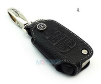 Wholesale Commodore Car - Genuine Leather Car Key Case for HOLDEN VF VOLT COMMODORE 5 buttons Flip Key FOB cover key holder black color auto accessories