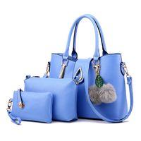 Wholesale cross body wallet purse pink resale online - Women Bag Ladies Top Handle Bags Fashion Female Messenger Bags Handbag Set PU Leather Composite Bag Purse Wallet