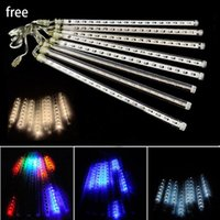 Wholesale Rain Christmas Lights - New LED Strings Light 20CM 30CM 50CM Meteor Shower Rain Tubes LED Meteor Lights 8pcs LED Light Christmas Light Wedding Garden Decoration