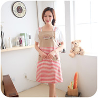 Wholesale Three trees sleeveless embroidered strap style home aprons cute fashion anti oil apron