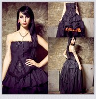 Wholesale Gothic Vampire Vintage - Victorian Wedding dresses 2017 Steampunk Gothic Lolita Inspired Vampire Black Custom Wedding Bridal Gowns Plus Size Formal Wear