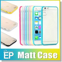 Wholesale Mats For Pc - For samsung Iphone 8 7 Case Mat PC+TPU hard Clear Transparent Gel Cover Cases For Iphone 7 Plus IPHONE 6 6S Galaxy S8 S8 Plus S7 S7 Edge